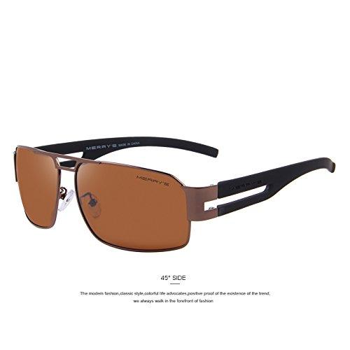 Polaroid tonos sol Negro Brown clásicas hombres de lentes EMI sol C01 la Defender de gafas de recubrimiento TIANLIANG04 de las C04 de de Guía polarizadas gafas aluminio FwBY11qf