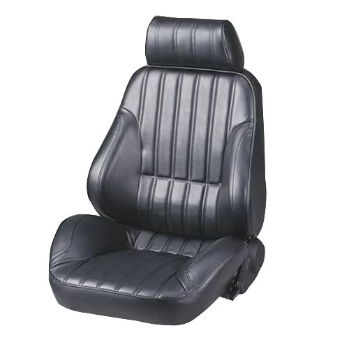 ProCar by Scat 80-1000-51L Rally Series 1000 Black Vinyl Left Recliner Seat (Black Scat Vinyl)