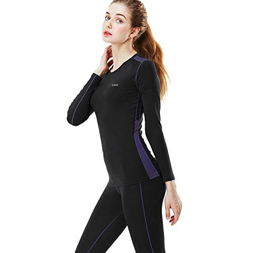a8e42a4a754a4 MEETYOO Women's Thermal Underwear Set, Ultra Soft Base Layer for Ladies,  Fleece Lined Long Johns Sport Top&Leggings Set for Running Skiing Cycling  Workout