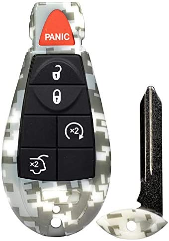 1 New Camouflage Entry 5 Buttons Remote Start Car Key Fob Remote IYZ-C01C for Commander and Grand Cherokee