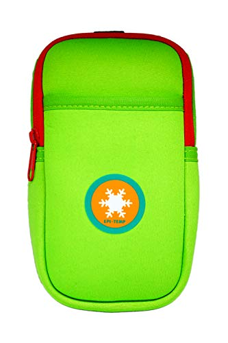 EPI-TEMP Epipen Insulated Case for Kids, Adults - Smart Carrying Pouch, Storage Bag, Powered by PureTemp Phase Change Material to Keep Epinephrine in Safe Temperature Range (Green)