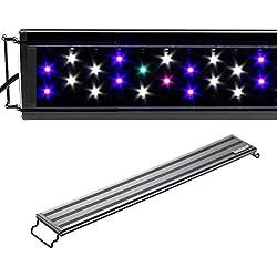 """Aquaneat LED Aquarium Light Full Spectrum Fish Tank Light Multi-Color Marine FOWLR (19""""-24"""")"""
