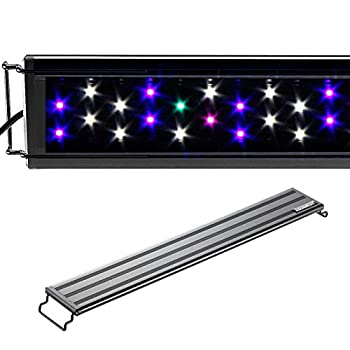 Image of Pet Supplies AQUANEAT LED Aquarium Light Full Spectrum Fish Tank Light Multi-Color Marine FOWLR (19'-24')