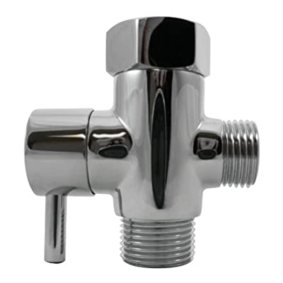 Luxe Metal T-adapter with Shut-off Valve, 3-way Tee Connector, Chrome Finish, for Luxe Neo Bidets