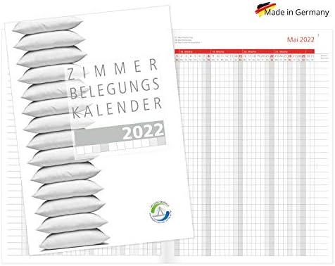 Zimmerbelegungsplan 2022 Zimmerbelegungskalender Reservierungskalender für Vermietungen von Ferienwohnungen Belegungsplan Sonn-und Feiertagen in Rot Made in Germany