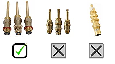 Trim Kit for 3-handle Shower Valve, Fit Price Pfister Compression Stem Shower, Oil Rubbed Bronze Finish -By Plumb USA