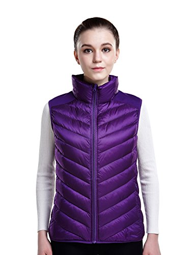 不良学習者大胆なPuredownレディース軽量ダウンPackable Puffer Vest