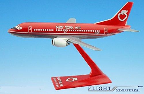 New York Air 737-300 Airplane Miniature Model Snap Fit Kit 1:180 Part# ABO-73730F-014 (Flight Miniatures Snap)