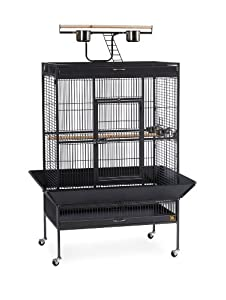 1. Prevue Wrought Iron Bird Cage Black Hammertone