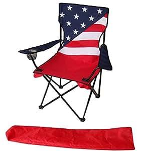 Amazon Com Uniware American Flag Pattern Fold Able Beach