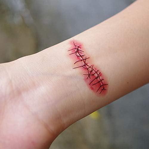 Disfraces De Halloween Simulación Heridas Palos De Tatuaje ...