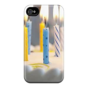 New Fashion Premium Tpu Case Cover For Iphone 4/4s - Candles On Birthday Cake