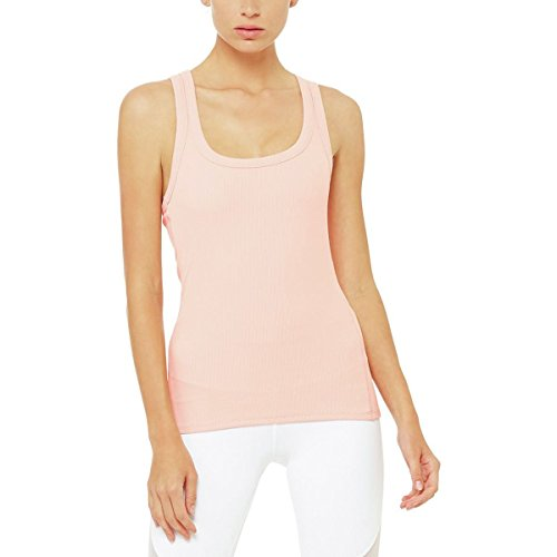 Alo Yoga Rib Support Tank Top - Women's Powder Pink, L Womens Rib Tank