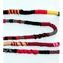 Amazon omg hair wraps red color scheme hippie hair extension qty 1 dreadlocks accessory dread wrap hair fall hair wrap colorful accessories for dreads braids curls pmusecretfo Gallery