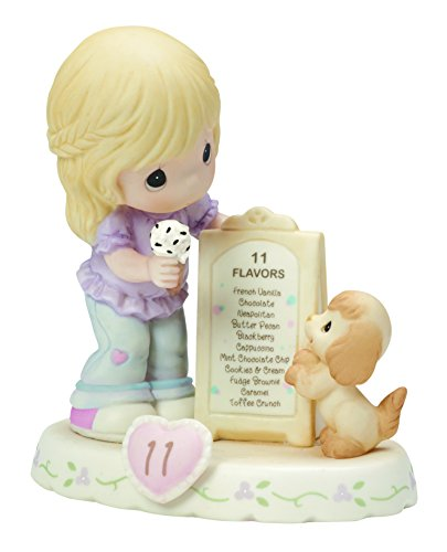 Precious Moments,  Growing In Grace, Age 11, Bisque Porcelain Figurine, Blonde Girl, 154038