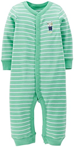 Carter's Baby Boys' Striped Romper (Baby) - Dog - 6 Months