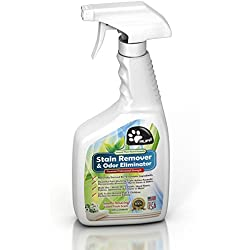 RUFF Natural Plant Based Pet Stain Remover & Odor Eliminator for Carpet & Hard Floors | Fresh Smell, Nontoxic & Safe around Pets & Kids | Pro Enzymatic Cleaner for Dog & Cat Urine | 32 Oz + Free EBook