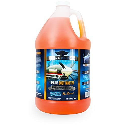 - Turbine Soot Master- Aircraft Degreaser- Carbon and Exhaust Soot Remover for Aircraft- Desinged for Turboprop Aircraft- Aircraft Detailing- Created by Professional Aircraft Detailers-1 Gallon