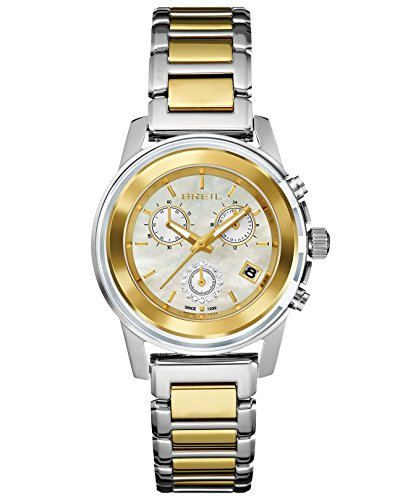 BRAND NEW Breil Women's Chronograph Orchestra Two-Tone Stainless Steel Bracelet 37mm Watch TW1189