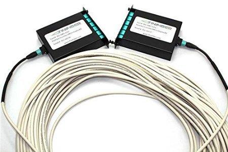 - 50FT TiniFiber 12 Strand OM3 MPO Cassette Kit LC Connectors