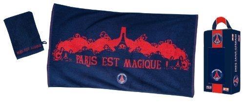 106439a68fcf74 Coffret cadeau Serviette de bain + gant de Toilette PSG - Collection  officielle PARIS SAINT GERMAIN - Football Ligue 1  Amazon.fr  Sports et  Loisirs