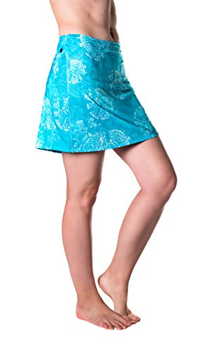 - Skirt Sports Women's Happy Girl Skirt, Long Running Skirt with Shorts, Made with Moisture-Wicking Breathable Material and Hidden Pockets, Clarity Print, X-Small