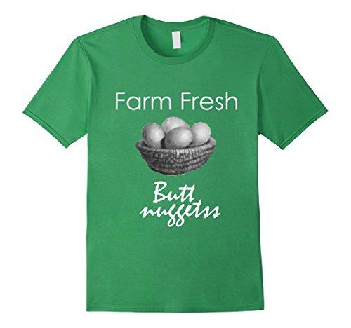 [Men's Farmer Boy Tshirt Fresh Farm Eggs Funny Gift Quote T-Shirt 2XL Grass] (Chicken Nugget Costume)