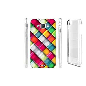 Carcasa Case Crystal Cuadrados Rainbow para Samsung Galaxy J52016SM-J510F