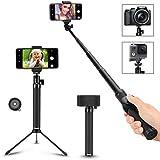 Selfie Stick, Arespark Wireless Extendable Selfie Monopod Portable Selfie Pole for Gopros, DSLR