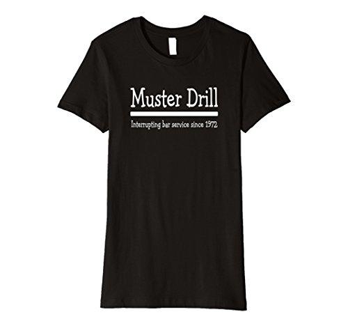 - Womens Cruise Ship Muster Drill Funny Bar Drinking Matching Shirt Small Black