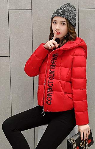 Donna Outerwear Calda Manica Con Alta Digitale Qualità Cappotto Invernali Battercake Corto Tasche Rot Casuale Stampato Cappuccio Lunga Confortevole Di Donne Giacca Outwear Anteriori dAZnIx