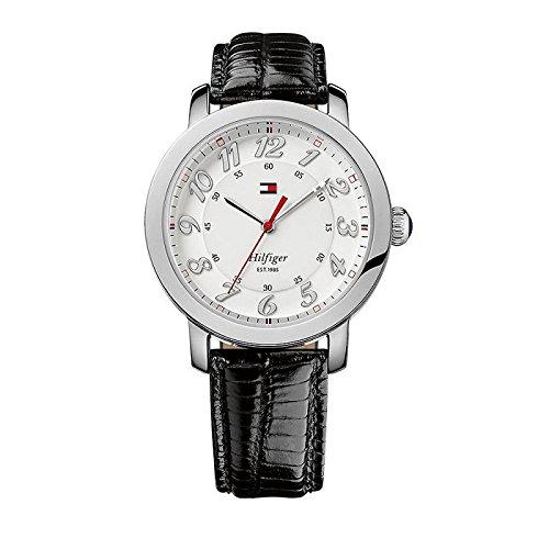 1781218 Tommy Hilfiger Leather Ladies Watch – Round Stainless Steel Case