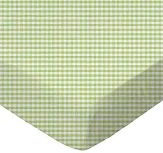 product image for SheetWorld Crib / Toddler Sheet - Sage Gingham Jersey Knit - Made In USA