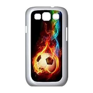 Lycase(TM) Fire Football Soccer ball DIY Hard Back Cover Case, Custom Fire Football Soccer ball Samsung Galaxy S3 I9300 Case