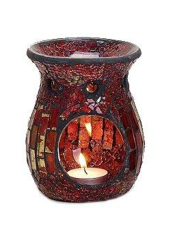 Duftlampe Mosaik rot / gold