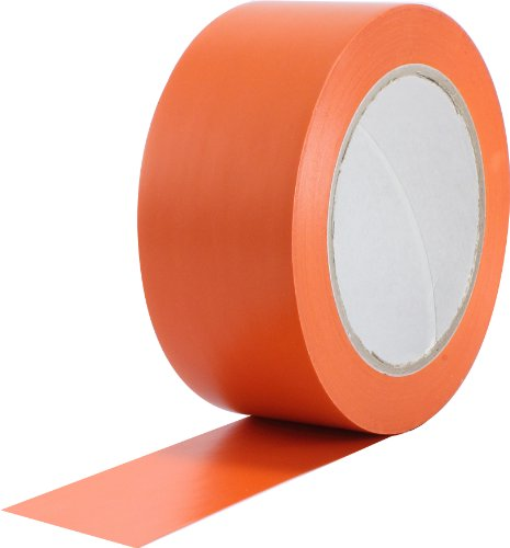 ProTapes Pro 50 Premium Vinyl Safety Marking and Dance Floor Splicing Tape, 6 mils Thick, 36 yds Length x 1 Width, Orange (Pack of 1)