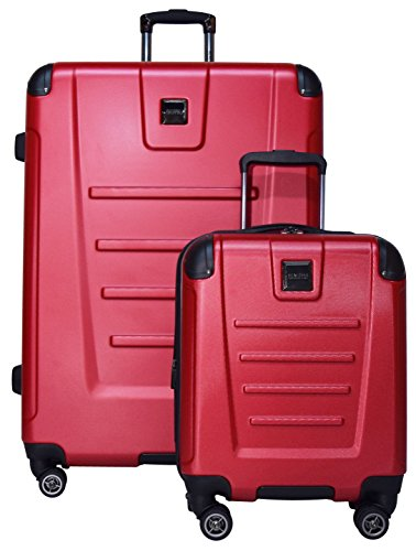 Kenneth Cole Reaction Get Away 2-Piece Expandable Upright Luggage Spinner Set: 29'' and 16'' Carry On Under Seat Bag (Red) by Kenneth Cole REACTION