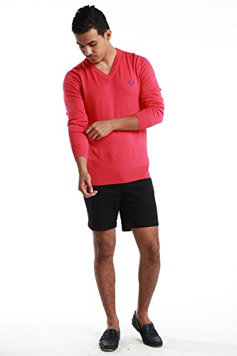 """Fred Perry Green Label Men's Sweatshirt Medium Pink V-Neck Sweatshirt with Blue """"laurel"""" by Fred Perry (Image #4)"""
