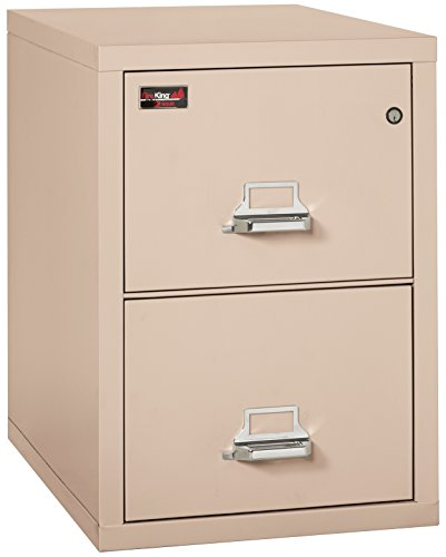 FireKing Fireproof 2 Hour Rated Vertical File Cabinet (2 Legal Sized Drawers, Impact Resistant, Waterproof), 29.88