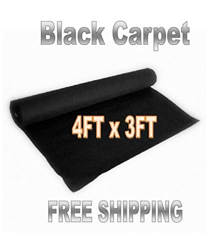 Audiopipe 3 Feet x 4 Feet Black DJ Car Sub Woofer Speaker Box Carpet Trunk Liner