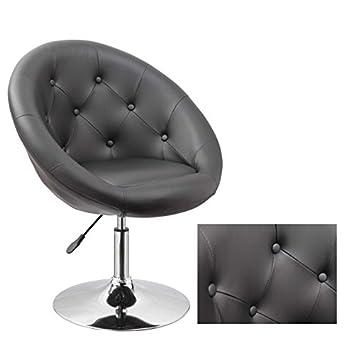 Armchair Black Club Chair Lounge Chair Faux Leather Dining Chair