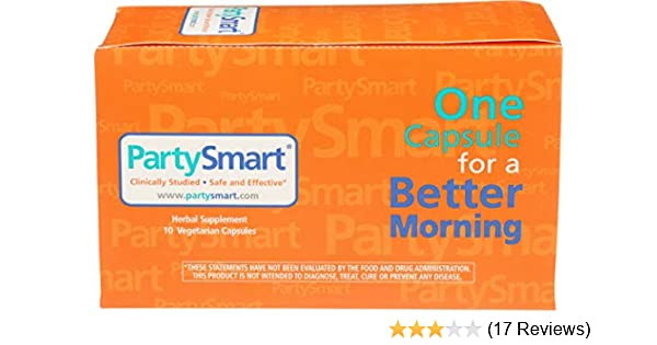 Amazon Com Partysmart Herbal Supplement For A Better Morning After 550 Mg 10 Capsules Health Personal Care