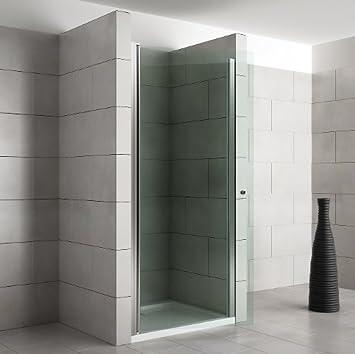 Pared de ducha mampara de ducha puertas para puerta de cristal de seguridad (ESG) | Dimensiones: 1000 x 1950 mm - LEVIDOR: Amazon.es: Bricolaje y herramientas