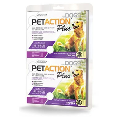 Pet Action Plus for Dogs, 6 Doses Large Dogs 45-88 Lbs.