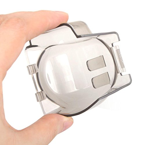 Gbell Hard Clear Gimbal Camera Cover Gray Hood Cap Protector for DJI Mavic Pro Drone (Transparent)