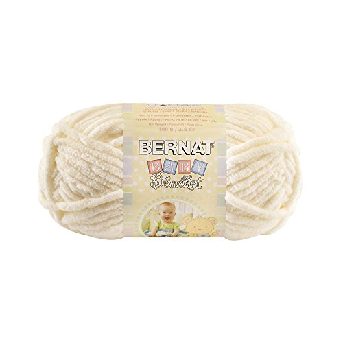 Yarn Bernat Baby Blanket 03008 Vanilla 3.5 oz - 100 grams - 72 yards (Vanilla Blanket Chenille)