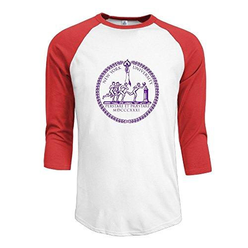TopSeller Men's New York University Logo 3/4 Sleeve Baseball T Shirts/Tee