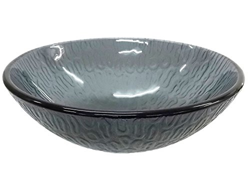 Eden Bath 14 inch Small Charcoal Free-Form Hoops Glass Vessel Sink