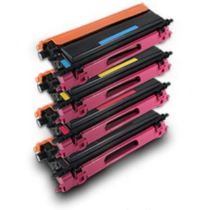 Remanufactured Combo Pack - 1 Black, 1 Cyan, 1 Magenta, 1 Yellow High Yield Remanufactured Toner Cartridges Compatible with Brother TN115BK, TN115C, TN115M, TN115Y - Spot Combo Pack