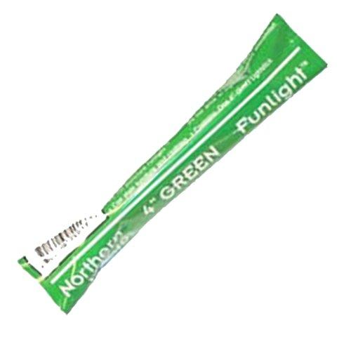 JCS Northern Lights Funlight, 8Hr. Safety Glow Stick, 4inch, (4 Green Glow Stick)